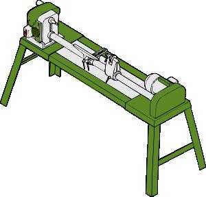 free vector Wood Lathe Workshop Tools clip art