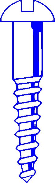 free vector Wood Screw Blue clip art