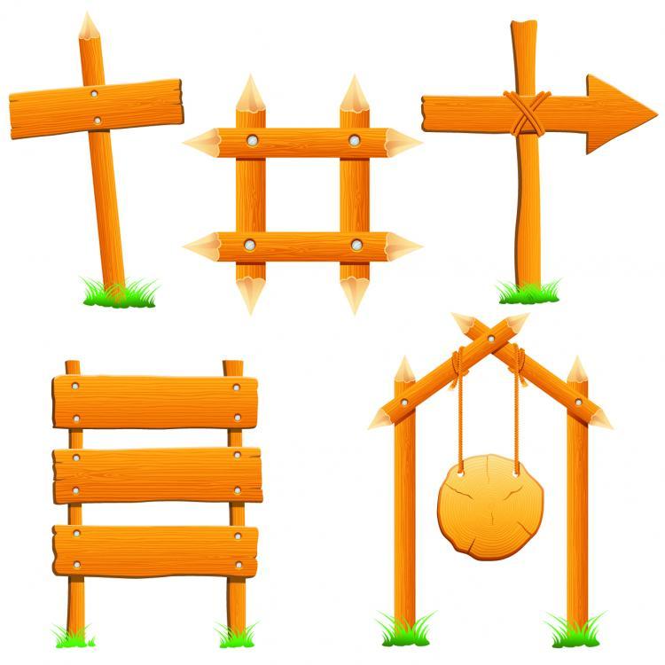 wood signs 01 vector free vector 4vector rh 4vector com Vector Wood Grain Heart Wood Grain Pattern Illustrator