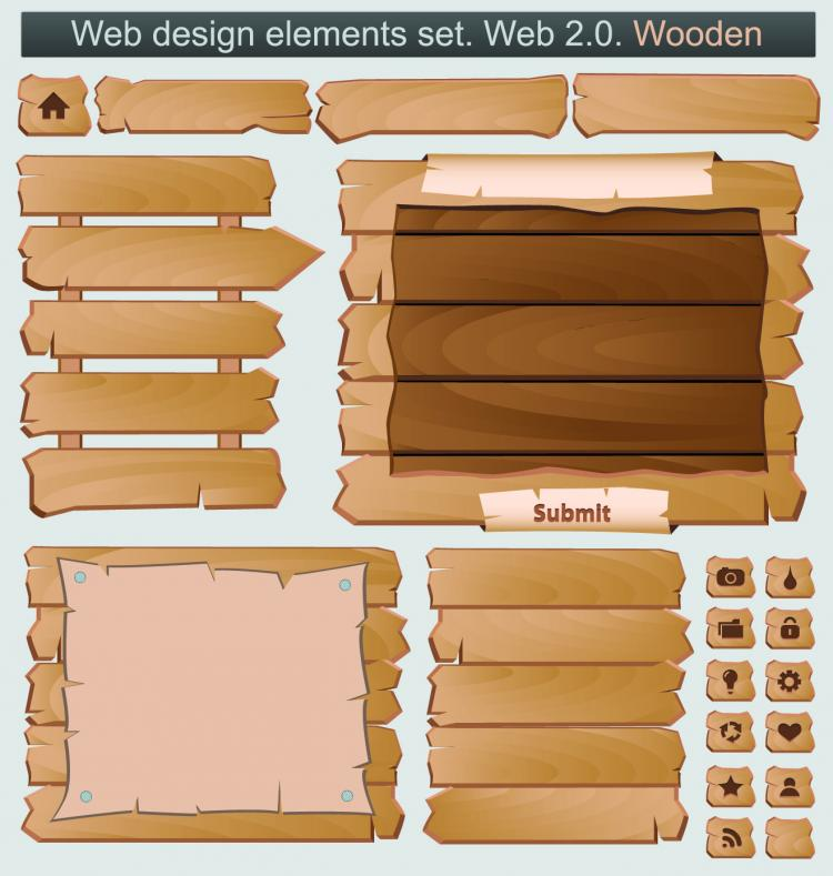 free vector Wood signs 03 vector