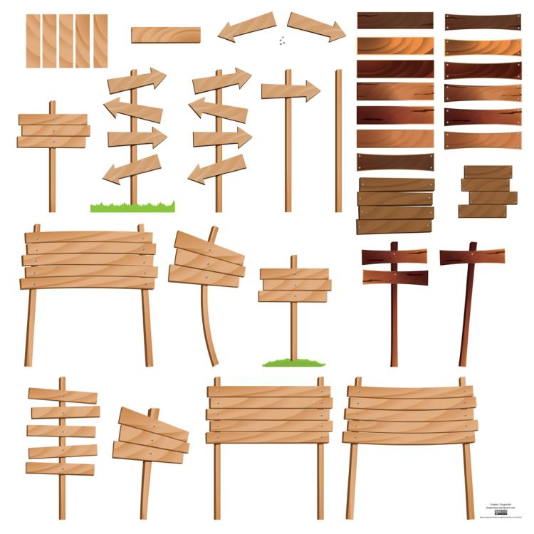 free vector Wood Signs