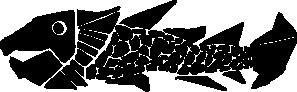 free vector Woodcut Fish clip art