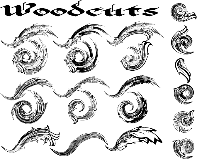 free vector Woodcuts free vector