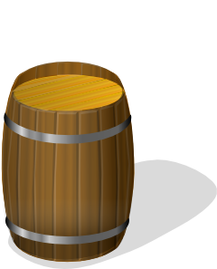 free vector Wooden Barrel clip art