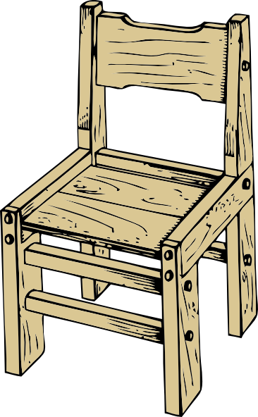 Wooden Chair Drawing ~ Wooden chair clip art free vector