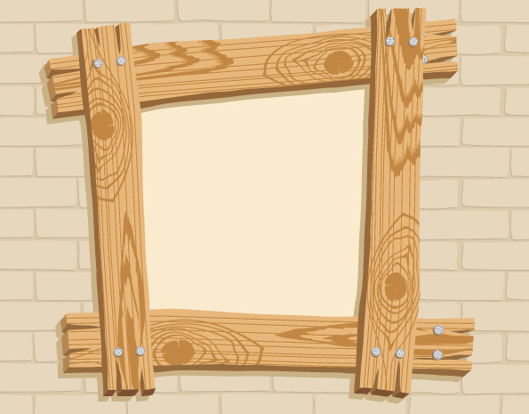free vector Wooden frame vector