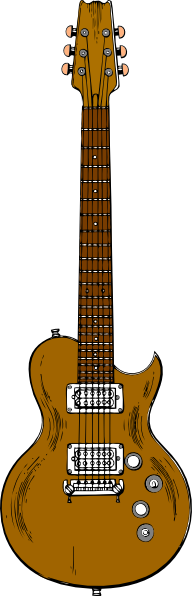 free vector Wooden Guitar clip art