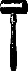 free vector Wooden Mallet clip art