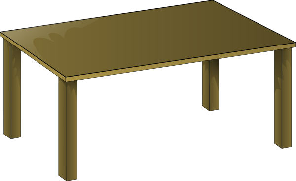 free vector Wooden Table clip art