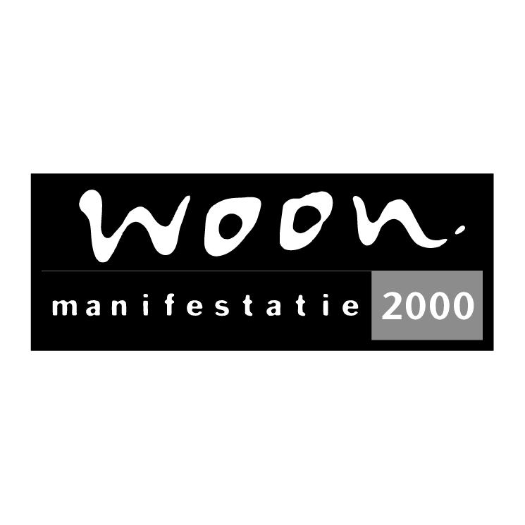 free vector Woon manifestatie 2000