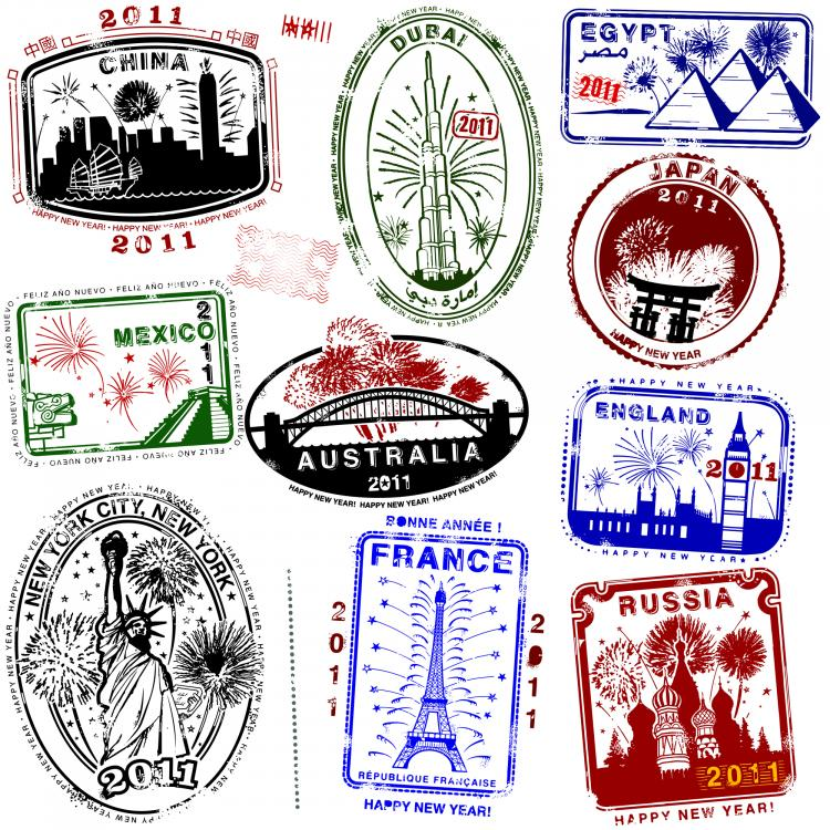 Landmarks Vector World Landmarks Seal 04 Vector