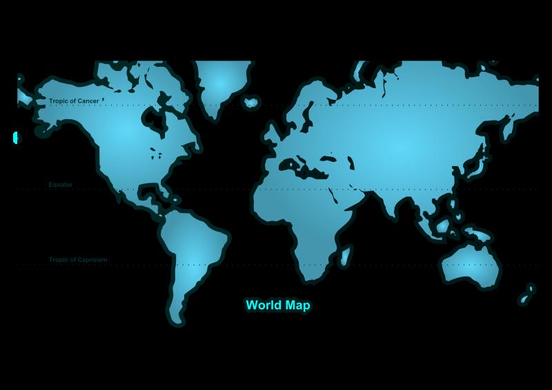 World Map 2 Free Vector  4Vector
