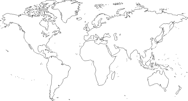 World Map Outline Png World Map clip art Fre...