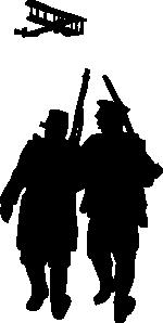 free vector World War I Silhouette clip art