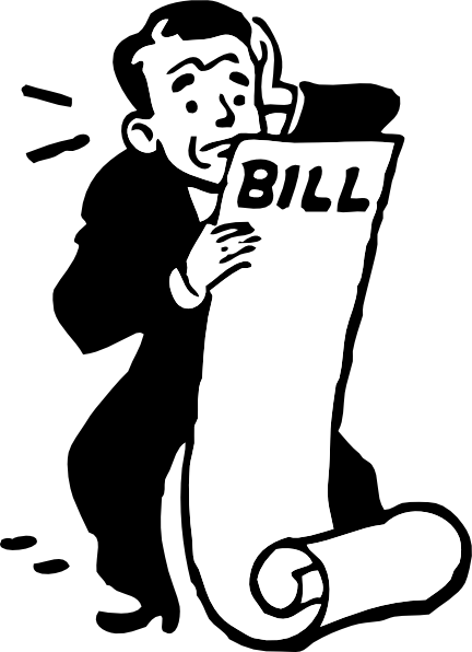 free vector Worried About A Bill clip art