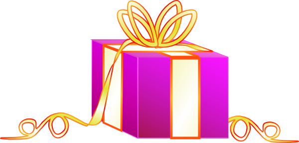 free vector Wrapped Gift clip art