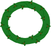 free vector Wreath Of Evergreen, With Red Berries clip art