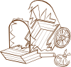free vector Wrecked Caravan clip art