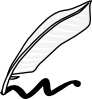 free vector Writing Using A Feather And Ink clip art