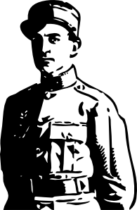 free vector Wwi Officer clip art