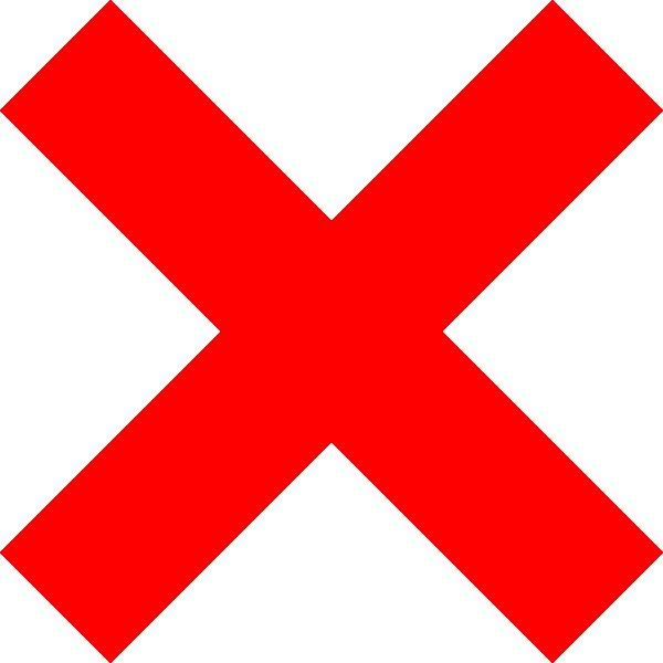 free vector X Icon clip art