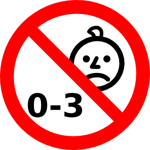 free vector X Not Suitable For Children With Age clip art