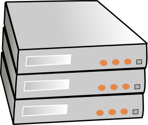 free vector X86 Rack Servers clip art
