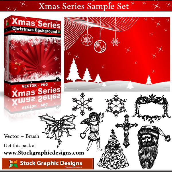 free vector Xmas Series Sample Set