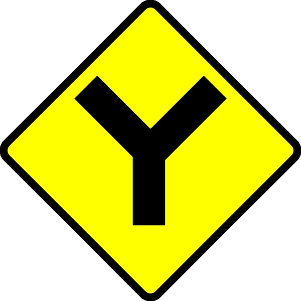 Y Road clip art Free Vector / 4Vector