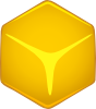 free vector Yellow 3d Cube clip art