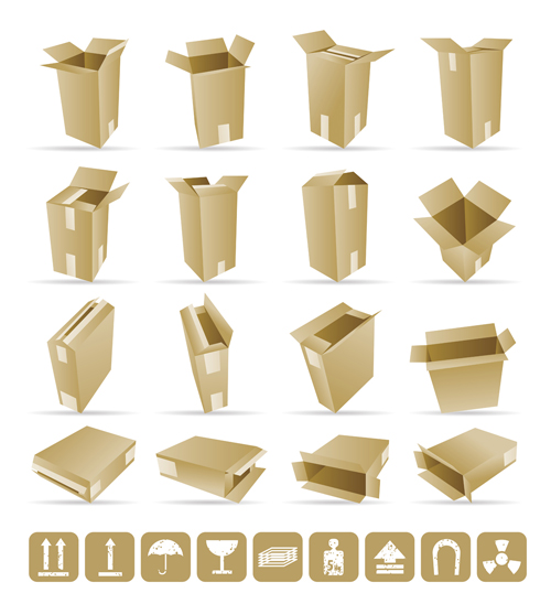 free vector Yellow boxes 02 vector