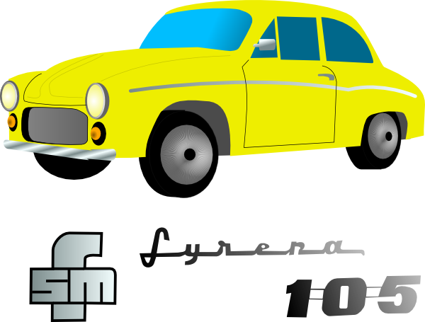 free vector Yellow Car clip art