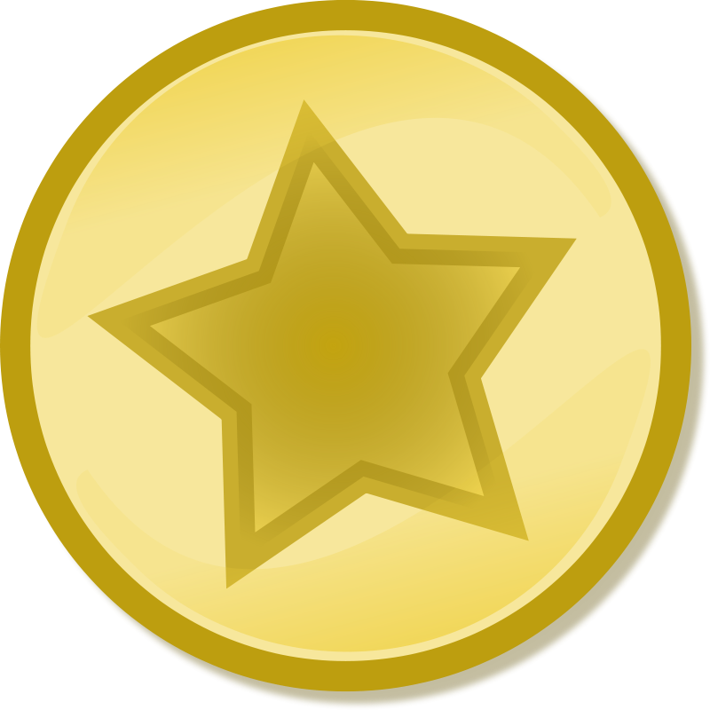 free vector Yellow circled star