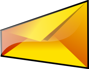 free vector Yellow Envelope clip art 121289
