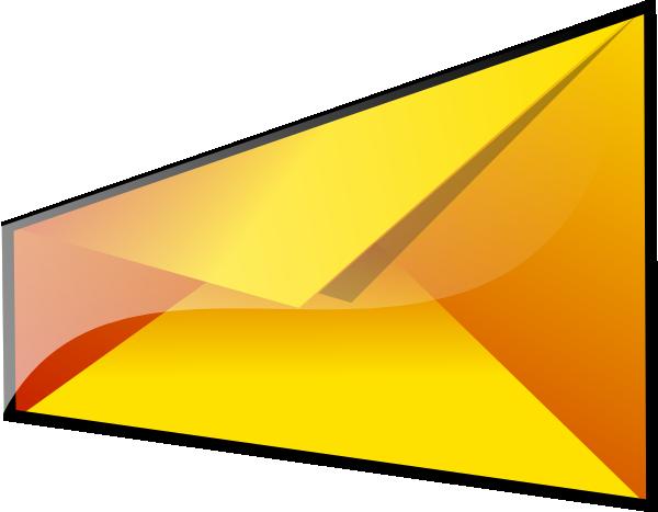 free vector Yellow Envelope clip art