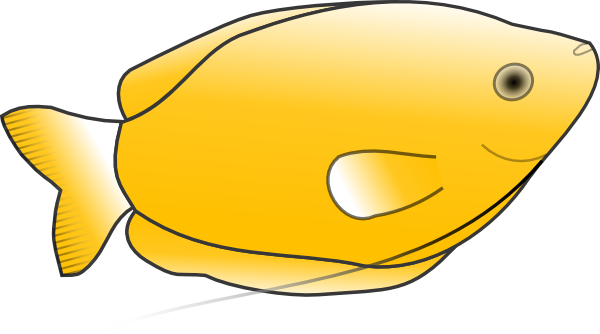 free vector Yellow Fish clip art