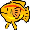 free vector Yellow Fish clip art