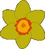 free vector Yellow Flower clip art