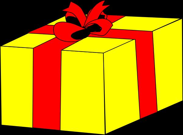 free vector Yellow Gift clip art