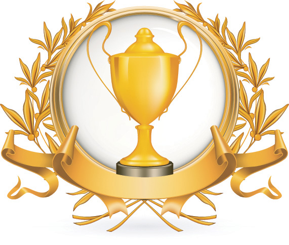 free vector Yellow Gold Trophy Vector Material Yellow Gold