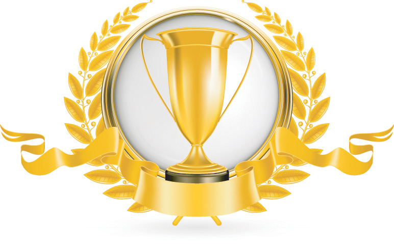 free vector Yellow gold trophy vector