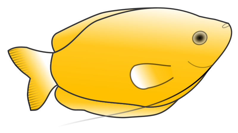 free vector Yellow Gourami