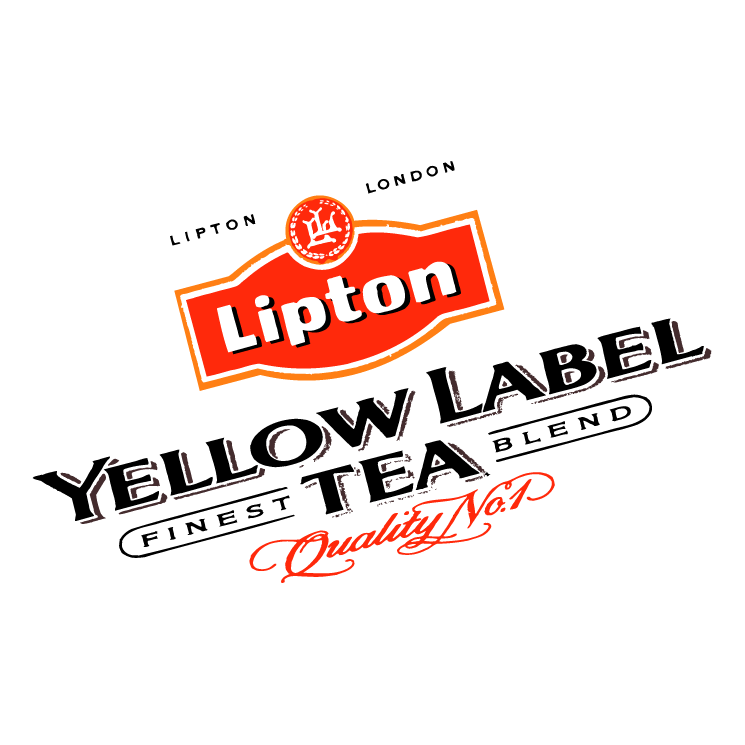 free vector Yellow label tea