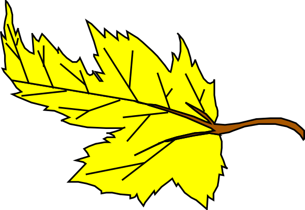 free vector Yellow Leaf clip art