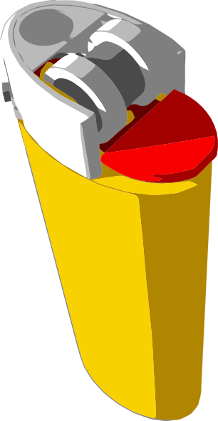 free vector Yellow Lighter clip art