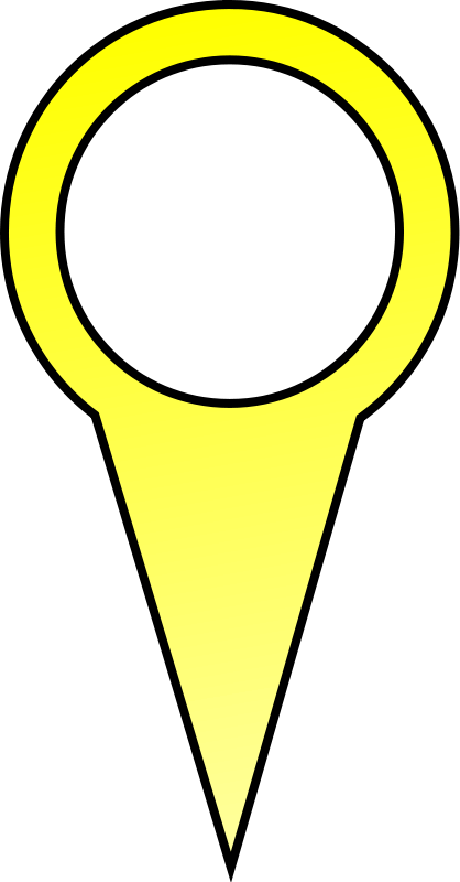 free vector Yellow Map Pin
