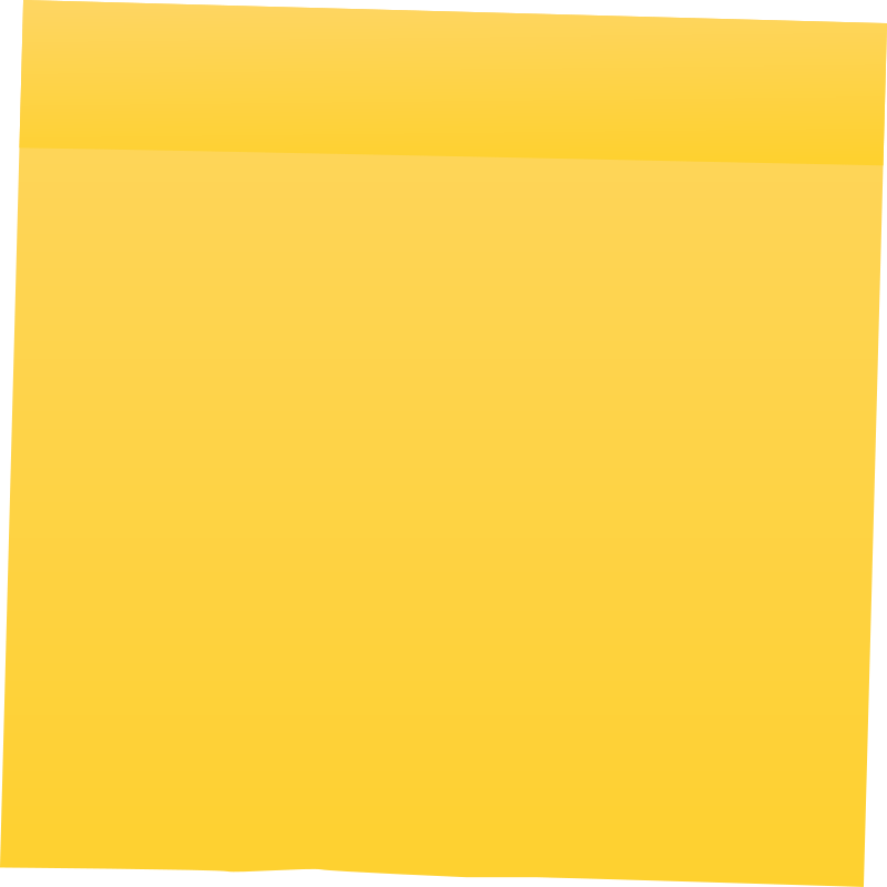 free vector Yellow Post It Note