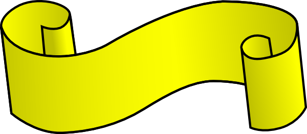 free vector Yellow-scroll clip art