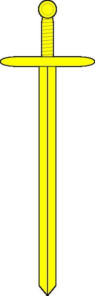 Yellow Sword clip art Free Vector / 4Vector