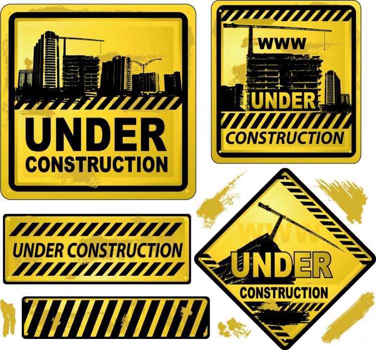 free vector Yellow warning signs 01 vector